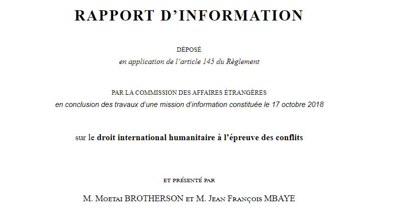« Le droit international humanitaire, un droit en mutation ? »